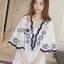 Lady Ribbon Online เสื้อผ้าออนไลน์ขายส่ง lady ribbon เสื้อผ้า LR14150816 Lady Rachel Summery Classic Dress เดรสปักและตกแต่งลาย thumbnail 3