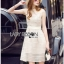 Lady Ribbon Online ขายส่งเสื้อผ้าออนไลน์เลดี้ริบบอน LR16010816 &#x1F380 Lady Ribbon's Made &#x1F380 Lady Selena Classic Elegant Sleeveless White Mixed Lace Top เ thumbnail 2