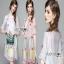 Lady Ribbon Shirt Dress เชิ้ตเดรสปัก ลายสีพาสเทล thumbnail 1