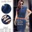 2Sister Made, Smart Elegant Jean Dress with Vintage Brown Belt เดรสยีนส์ ผ้าเดนิมเนื้อนิ่ม thumbnail 2