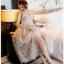 Lady Ribbon Gold Tulle Cocktail Dress ขายส่งเดรสค็อกเทล thumbnail 4