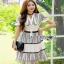 Lady Ribbon Lace Shirt Dress เชิ้ตเดรสผ้าลูกไม้สีขาว thumbnail 1