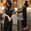 Lady Ribbon Black Jumpsuit จัมป์สูทผ้า thumbnail 1