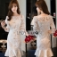 Lady Ribbon Peplum Lace Dress เดรสผ้าลูกไม้สีขาวสไตล์วินเทจ thumbnail 1