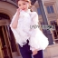Lady Ribbon Lace Blouse เสื้อผ้าลูกไม้แขนบาน thumbnail 4