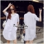 Lady Ribbon Online ขายส่งเสื้อผ้าออนไลน์ Very very pretty VP02030816 Lovely White Cotton Long Shirt Style Korea thumbnail 1