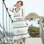 Lady Ribbon Aerin Black and White Lace Dress thumbnail 3