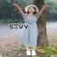เสื้อผ้าลายดอก เดรสแฟชั่นเกาหลีเว้าใหล่ thumbnail 4