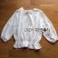 Lady Ribbon Online เสื้อผ้าออนไลน์ขายส่ง lady ribbon เสื้อผ้า LR08150816 &#x1F380 Lady Ribbon's Made &#x1F380 Lady Emily Sweet Scallop Laser-Cut and Embroidered Cotton Top เสื้อผ้าคอตตอนสีขาว thumbnail 4