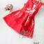 2Sister Made, Beauty Red Velvet Color Dress เดรสสั้น ลุคเรียบหรูสีแดงสด เนื้อผ้าpolyester+silkเกรดดี thumbnail 6