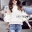 Lady Ribbon White Lace Blouse เสื้อผ้าลูกไม้ thumbnail 3