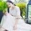 Lady Ribbon Summer Casual Basic White Lace Maxi Dress thumbnail 3