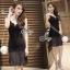 Lady Ribbon Online เสื้อผ้าแฟชั่นออนไลน์ขายส่ง เลดี้ริบบอนของแท้พร้อมส่ง sevy เสื้อผ้า SV05240716 &#x1F389Sevy V Curve Mesh Sleeveless Sexy Dress thumbnail 2