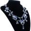 y1459 - สร้อยหิน สร้อยคอ สร้อยหินนำโชค เครื่องประดับ crystal flower necklace collarbone chain thumbnail 3