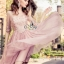 SV03310816 &#x1F389Sevy Luxury Lace Pink Gold Embroidered Dress Type: Dress Fabric: Mesh+Lace+Chiffon+Organdy thumbnail 6