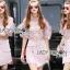 Lady Ribbon Online เสื้อผ้าออนไลน์ ขายส่งของแท้ราคาถููก LR17110716 &#x1F380 Lady Ribbon's Made &#x1F380 Lady Christina Modern Vintage Lace Blouse and Hot skirt Set thumbnail 1
