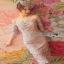 Lady Ribbon Organza and Guipure Lace Dress thumbnail 3