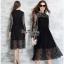 Maxi Dress เดรสผ้าลูกไม้งานแบรนด์แฟชั่นเกาหลี thumbnail 2