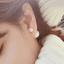 N1043 - ต่างหูแฟชั่น ต่างหูหนีบ ต่างหูเกาหลี ตุ้มหูแฟชั่น ตุ้มหู ต่างหู เครื่องประดับ pearl earrings thumbnail 1