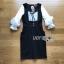 Lady Ribbon White Polkadot Dress เดรสเอี๊ยมสีขาว thumbnail 6