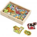 แม่เหล็กไม้รูปสัตว์ Wooden Animal Magnets 20 Pcs