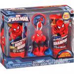 ชุดเจลอาบน้ำและใยขัดตัวสำหรับเด็ก Spider man