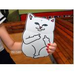 (สีขาว) เคสซิลิโคน แมวดำ แมวขาว (เคส iPad Air 2)