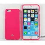 (สีชมพูเข้ม) เคสซิลิโคน GOOSPERY (เคส iPhone 6/6S)