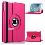 (สีชมพูเข้ม) เคสสีพื้นหมุนได้ 360 องศา (เคส iPad mini 4)