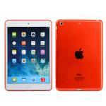 (สีแดง) เคสซิลิโคนใสสีต่างๆ (เคส iPad mini 1/2/3)