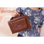 (สีน้ำตาล) เคสกระเป๋าถือ มีหูหิ้ว สวยเก๋ สุดๆ (เคส iPad mini 4)