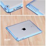 (สีน้ำเงิน) เคสกรอบใส หุ้มซิลิโคน (เคส iPad 2/3/4)