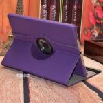 (สีม่วง) เคสหนังผ้า หมุนได้ 360 องศา (เคส iPad Air 1)