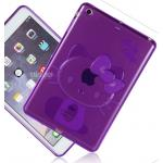 (สีม่วง) เคสซิลิโคนคิตตี้ (เคส iPad mini 1/2/3)