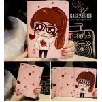 (ลายที่4) เคสการ์ตูน Cute Girl Dilian (เคส iPad Air 2)