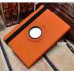 (สีส้ม) เคสหนังผ้า หมุนได้ 360 องศา (เคส iPad Air 1)