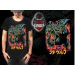 Size XL GODZILA BLACK T-Shirt