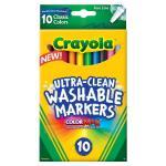 สีเมจิกล้างออกได้ Crayola 10 Ct Ultra-Clean Washable Markers, Color Max