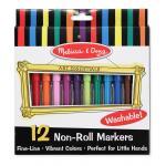 สีเมจิกปลอดสารพิษล้างออกได้ Washable Non-toxic Markers -12 สี