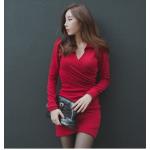 สีแดง ไซส์ L