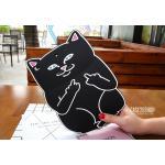 (สีดำ) เคสซิลิโคน แมวดำ แมวขาว (เคส iPad Air 2)