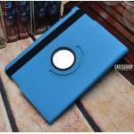 (สีฟ้า) เคสหนังผ้า หมุนได้ 360 องศา (เคส iPad Air 1)