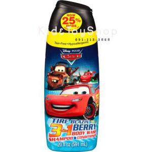 แชมพูครีมอาบน้ำ 3 in 1 Disney Pixar Cars กลิ่นberry ขนาด 20 fl oz