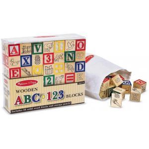 บล๊อคไม้ตัวอักษรและตัวเลข Melissa and doug Wooden ABC/123 Blocks