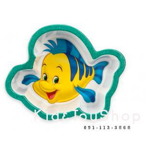 ชามเด็กลาย Flounder (little mermaid)[Disney USA]