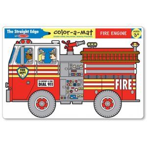 แผ่นรองจานเขียนลบได้ Write-A-Mat Learning Mat - Fire Engine