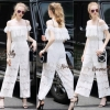 Lady Ribbon Online เสื้อผ้าออนไลน์ขายส่ง Normal Ally เสื้อผ้า NA15180816 &#x1F389Normal Ally Present Lace white princess casual Jumpsuit&#x1F389