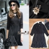 Normal Ally Present Paris Eiffel brooch strip dress
