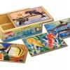จิ๊กซอชิ้นใหญ่ Jigsaw Puzzle in a Box - 12 Pcs Sea Life