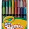 สีเทียนปลอดสารพิษไม่ต้องเหลา Crayola Mini Twistable Crayons 24
